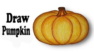 How to draw Pumpkin.Step by step(easy draw)