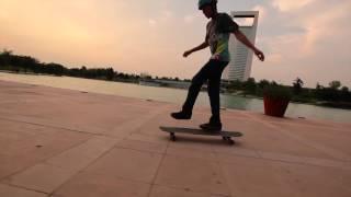 Guy Dances on Longboard