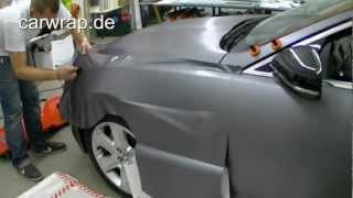 Carwrap Carwrapping Autofolierung Folierung Jaguar XF steel brushed