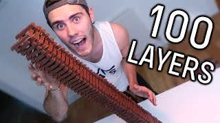 100 LAYERS OF KIT KATS CHALLENGE