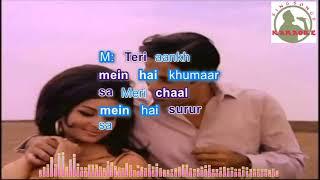 Kabhi Raat Din Hum Door Hindi karaoke for female singers with lyrics