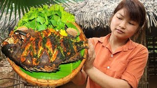Survival skills: Looking for food, Catch Freshwater Fishes to Grilled, Cooking fish eating delicious