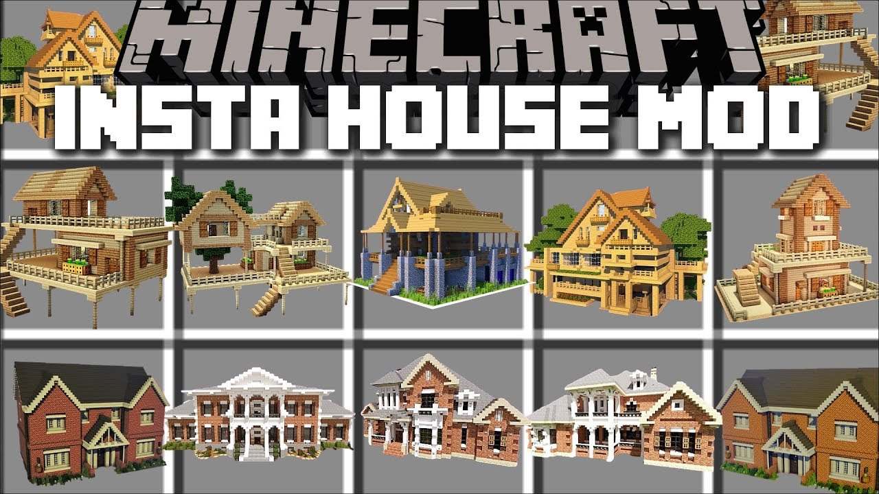 minecraft instant house mod download