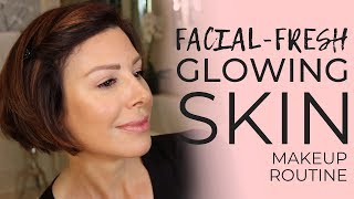 Fresh From the Facialist Glowing Skin Quick Makeup Routine | Dominique Sachse
