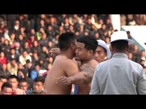 Chakhesang champ Venuzo Vs Chin champ Rung Lian Ceu/ semifinal bout/ Open Naga wrestling meet 2019