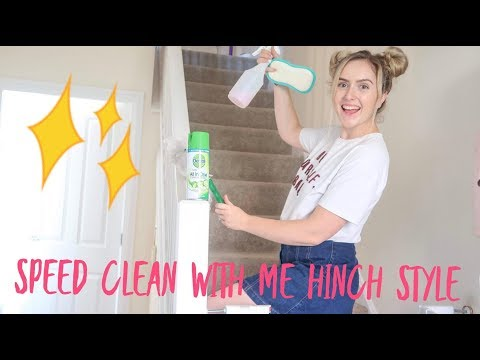 SPEED CLEAN WITH ME MRS HINCH STYLE TIPS AND TRICKS  / POWER HOUR / CLEANING HACKS