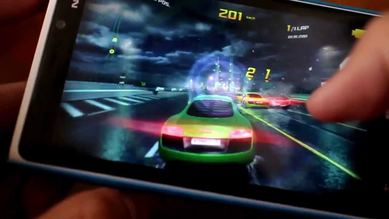 asphalt 8 nokia lumia 520 gameplay