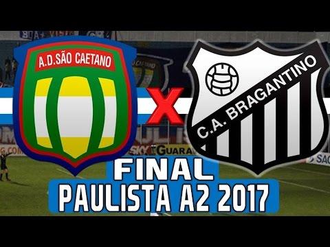 São Caetano 2 x 1 Bragantino (06/05/2017) Final do Campeonato Paulista A2 2017 [PES 2017]