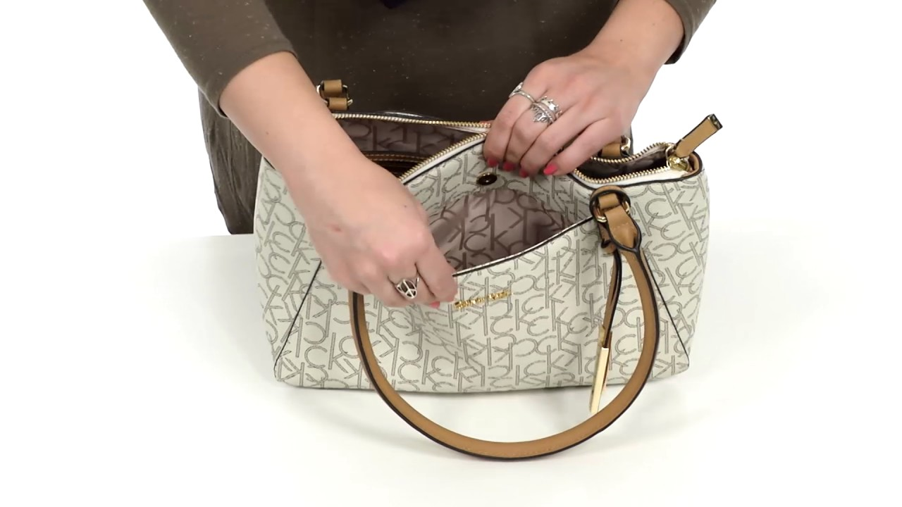 b84414950cc Calvin Klein Hudson Monogram Satchel SKU:8858291 - YouTube