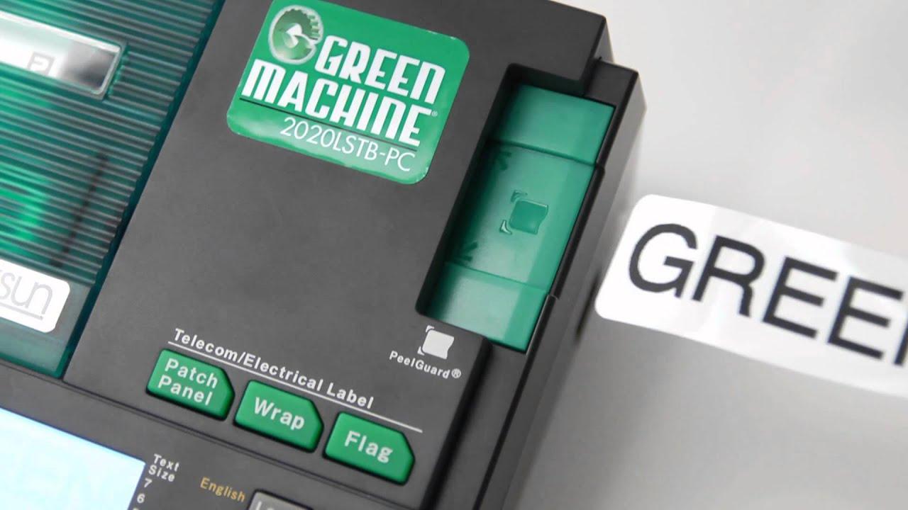 Green environmentally friendly Label & Shrink Tube Printer - YouTube