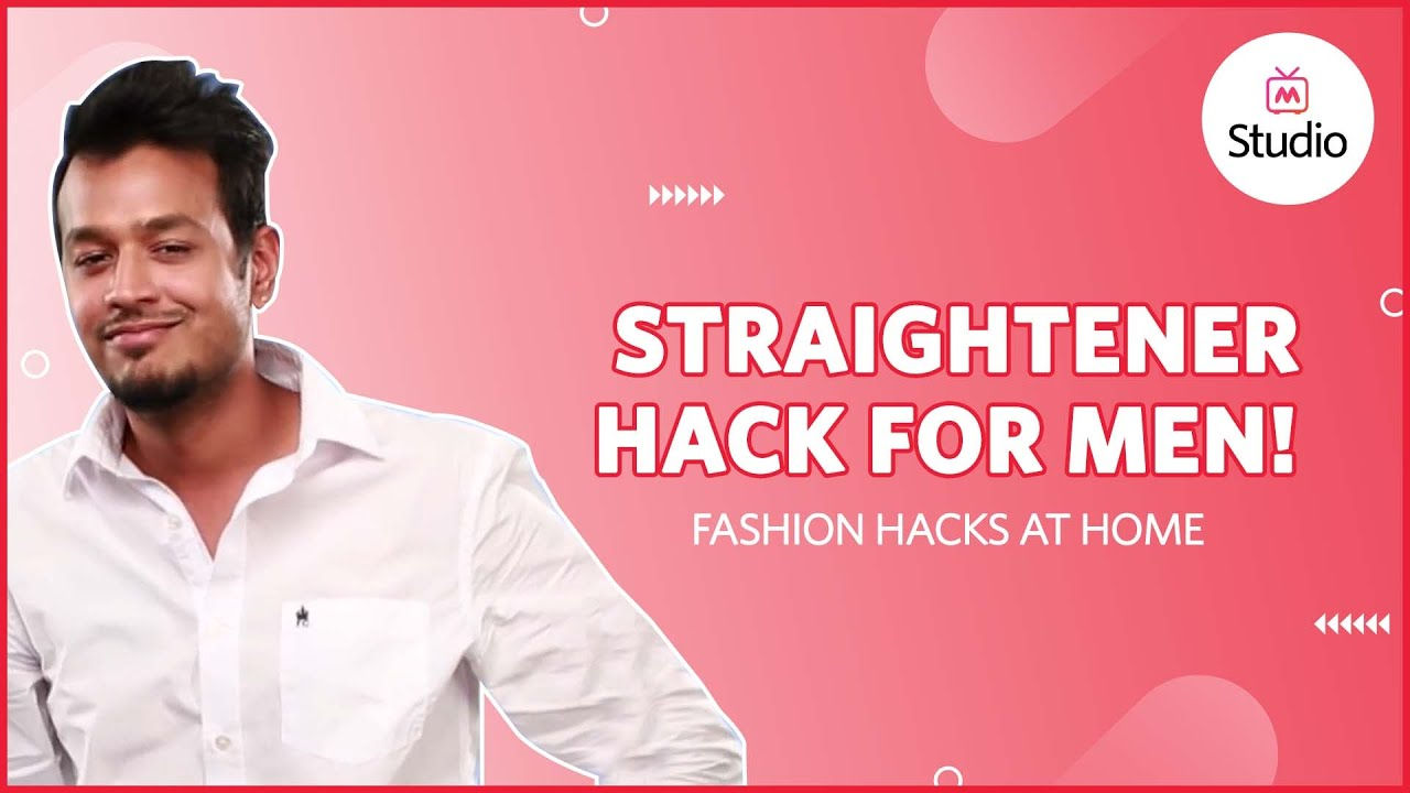 How To Use Straightener At Home Mens Style Guide Youtube