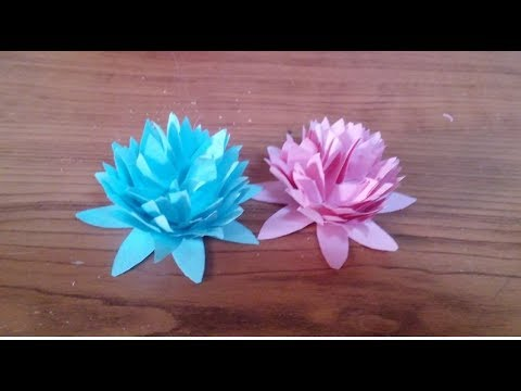 DIY Paper crafts - How to Make Simple Paper Flowers + Tutorial !