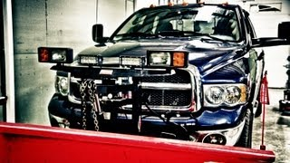 "Bulldog Lighting 6"" Led Light Mounted On A Weston Plow - Dodge 2500"