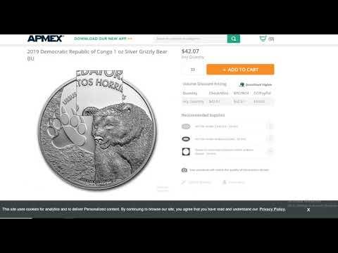 💣Price ALERT 💣  Democratic Republic of Congo 1 oz Silver 💣