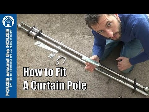 How to fit a curtain pole - Bespoke fit! Fitting a curtain pole - DIY tips and tricks.