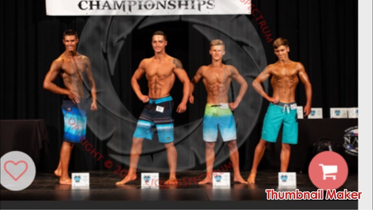 Mens Physique Competition Day 17 Years Old Youtube