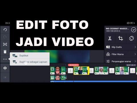 CARA EDIT FOTO JADI VIDEO DI APLIKASI KINEMASTER   Gerakan ...