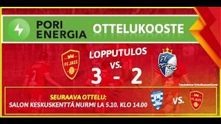 Pori Energia ottelukooste: FC Jazz - FC Espoo 28.9.2019