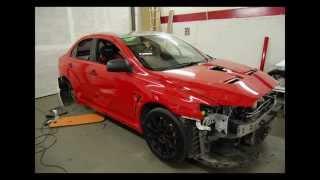 Mitsubishi Evo X Red wrap graphics by SJSdesign