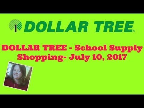 DOLLAR TREE- School Supply Shopping- July 10, 2017