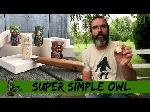 How To Carve A Simple, Fast And Easy Owl With Just A Knife and Block of Wood-Full Tutorial