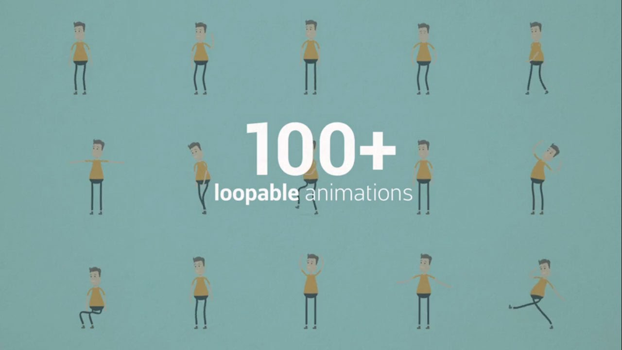 Complete Character Animation Kit For Explainer Video