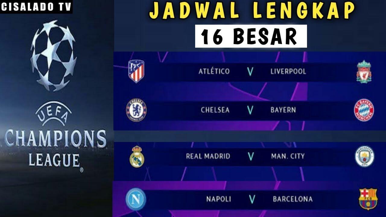 Jadwal Lengkap 16 Besar Liga Champions 2020 - YouTube