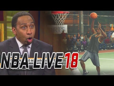 NBA LIVE 18 The One Career Mode Ep 2 - ESPN FIRST TAKE & RUCKER PARK GAME!