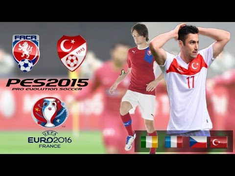 Czech Republic - Turkey • UEFA EURO 2016 • Pes2015 Gameplay•Türkçe Spiker № 3