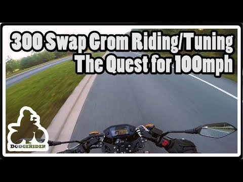 300 Swap Grom Riding Tuning - The Quest for 100mph