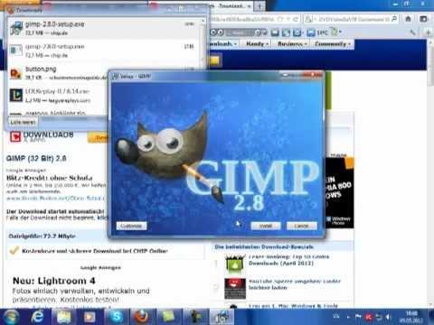 gimp how to make 32 bit vga