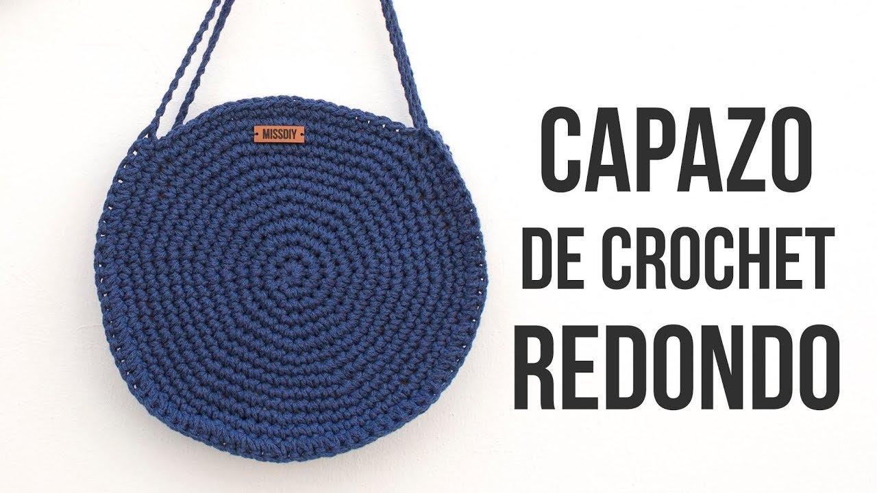 buena textura mejor baratas estilo máximo Bolso Capazo Redondo de Crochet