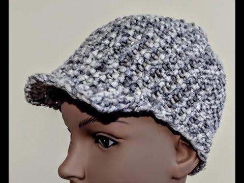 Visor Brim  Hat Loom Knit
