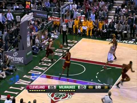 Larry Sanders Plays with Tyler Zeller and Dunks - 11/04/12