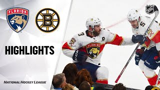 NHL Highlights | Panthers @ Bruins 11/12/19