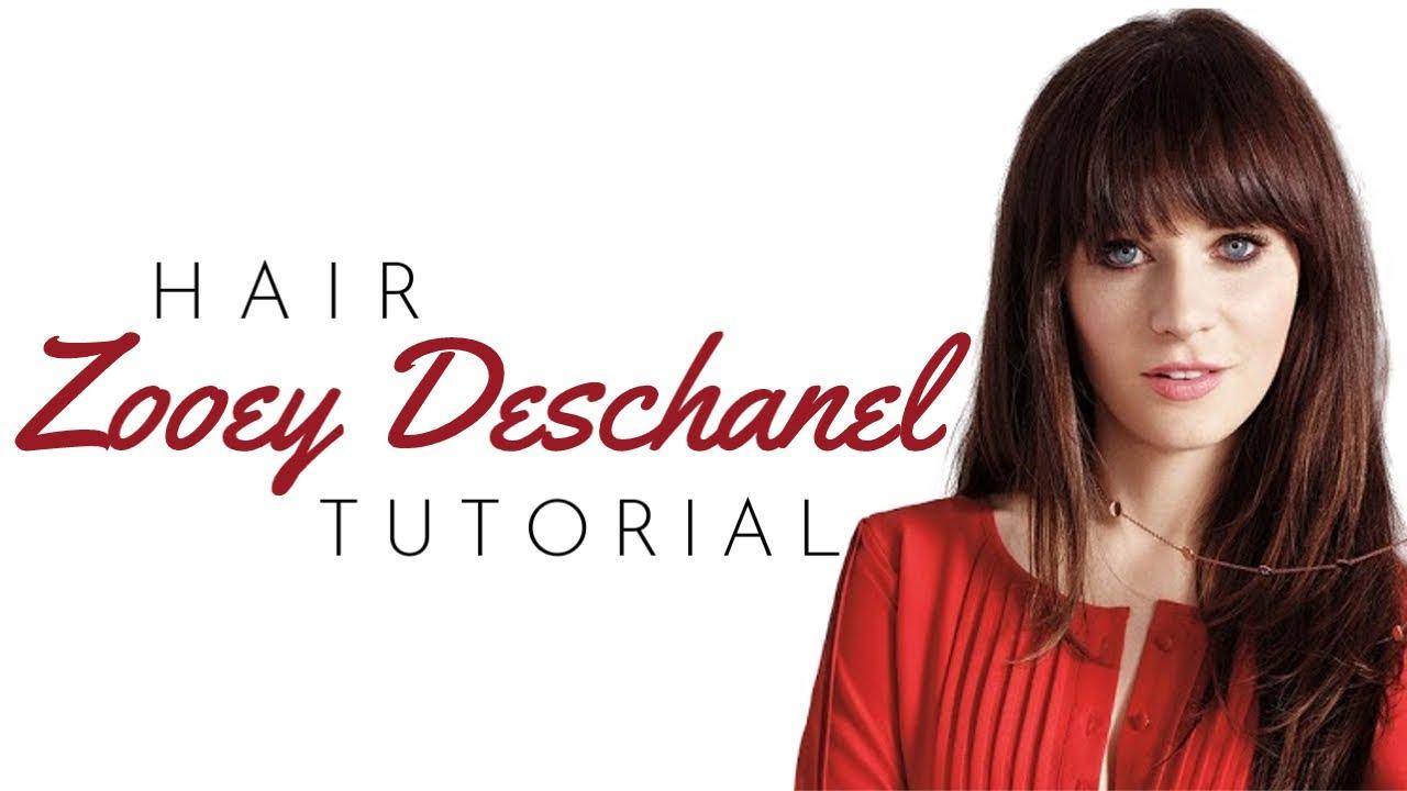 Zooey Deschanel Bangs Tutorial Thesalonguy Youtube