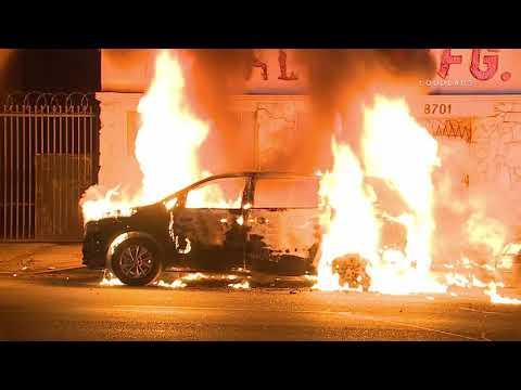 Exploding Vehicle Fire / South LA  10.8.18