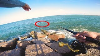 i could not BELIEVE MY EYES! insane jetty fishing game changer