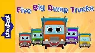 Five Big Dump Trucks | Learning Song | By Little Fox