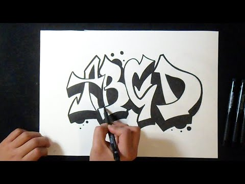 Comment Dessiner Lettre Graffiti 1 Abcd Youtube