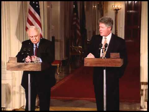 Press Conference with President Clinton and President Shevardnadze