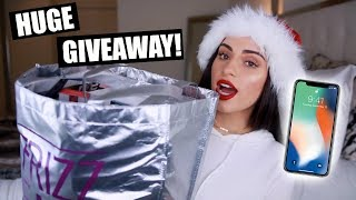 HUGE HOLIDAY GIVEAWAY IPHONE X  A SHT TON OF MAKEUP