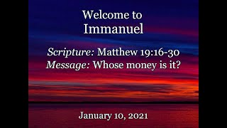 2021-01-10  Immanuel CRC Sunday Service Fort Collins