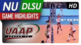 uaap 78 wv nu vs dlsu game highlights