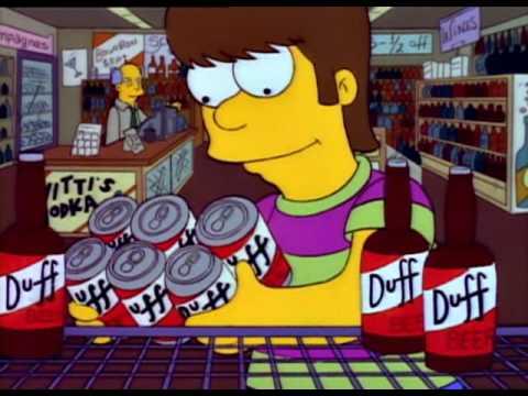 Homer Simpon - Prima birra, canzone (frank sinatra)