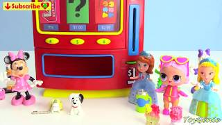 Minnie Mouse, Doc McStuffins, and Sofia the First Vending Machine Surprises