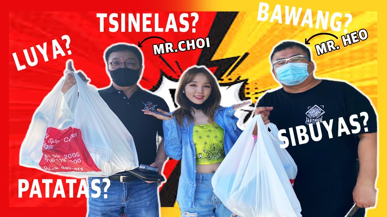 KOREANS BUY LOCAL INGREDIENTS CHALLENGE (TAGALOG ONLY!!) (Ft. MR. CHOI& UNCLE HEO) | DASURI CHOI