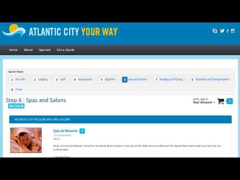 Your customized Atlantic City vacation package