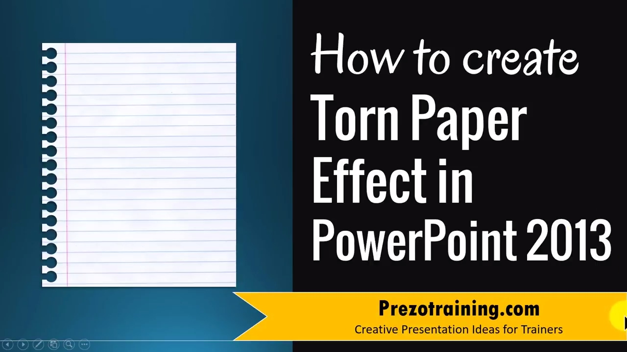 How to create torn paper effect in powerpoint 2013 youtube for How to make a paper design