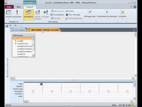 Create a Small Online Shop (MS Access 2010) - Teil 3 - Produktauswahl